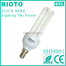 2017 Hot Sale 8000Hrs 3U 15W E14 Energy Saving Lamp cfl Light Bulb made in china