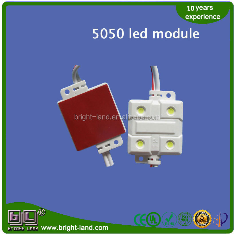 led 5050 RGBW High Power led module DC12V 0.7W 120 viewing angle ABS injection led light module