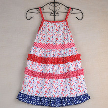 Patriotic children sundress baby summer dress for 4th of July