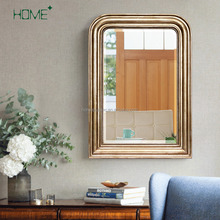 classic mdf wooden large wall mirror frame design for bathroom