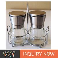 WS-PP01 Premium Salt and Pepper grinder Set with a Bonus Stand - Best Salt and Pepper Mill