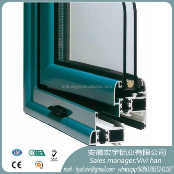 Powder coating aluminium profile frame for window and door