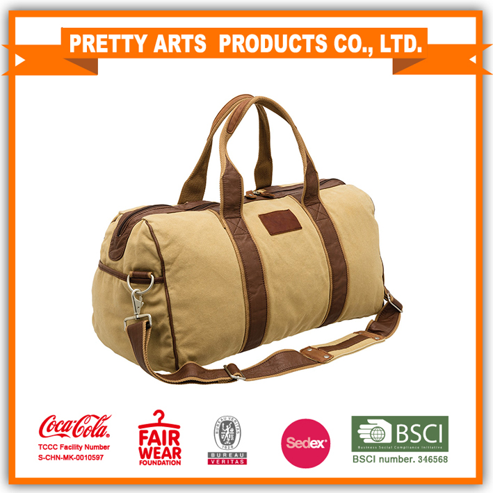 fashion canvas duffle bag