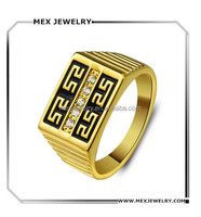 2015 Fashion High-grade 18k Gold Plated The Great Wall Pattern retro Ring
