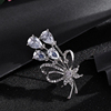 SWTR1244 Jewelry fashion brooches,Creative bouquet zircon brooch pins
