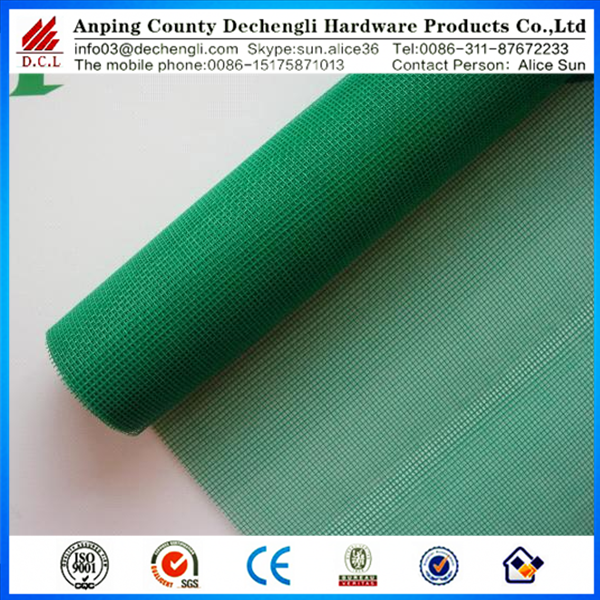 green color fiberglass window screen