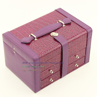2014 popular luxury faux leather jewelry gift boxes
