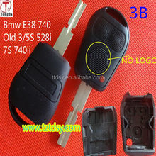 TD car keys ,high quality and competitive 3 button 2 track remote key shell/key blank