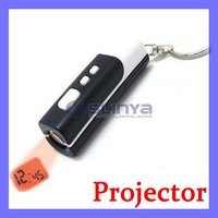 Novelty Gift Portable Clock Mini Picture Projector Keychain