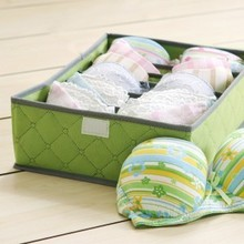 Eco-friendly folding storage bra box underwear closet organizer