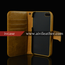 top layer leather case for iPhone 5s / 5 wallet case,classical flip book cover for iPhone 5s / 5 handmade genuine leatehr case