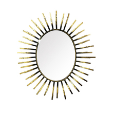 Cheap Decorative Sunbrust Golden Metal Art Craft Wall Mirror