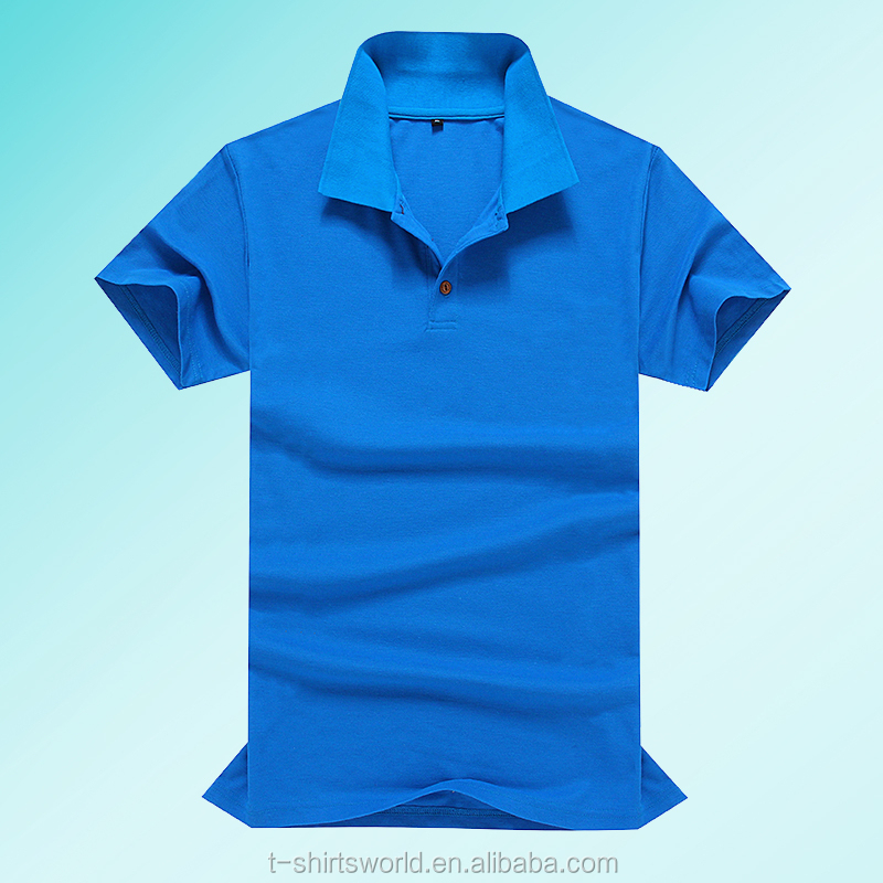 Wholesale unisex TC pique fabric original bulk polo shirt DIY for small quantity