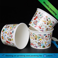 8oz small paper soup cups disposable cartoon hot paper soup bowl