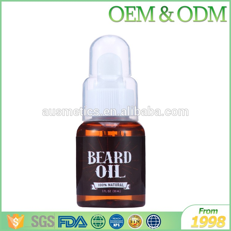 Best selling OEM / ODM private label glass bottle moisturizing beard oil