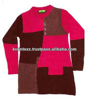 woman patchwork design sweater