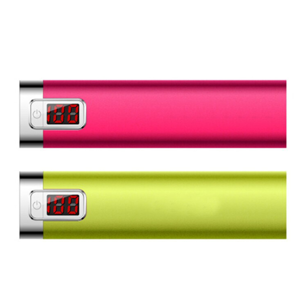 2016 New Arrival LCD 2600mAh Portable Charger External Battery Pack