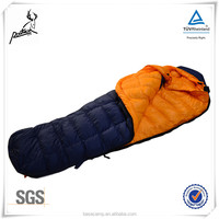 Camping inflatable goose feather sleeping bag