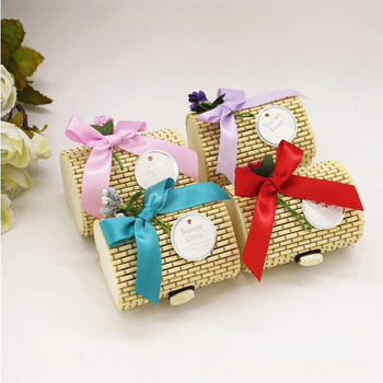 Special factory hand making gift colored box bamboo