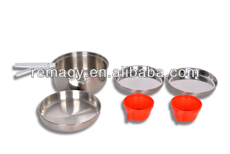 1-2 Person Stainless Steel Camping Mess Kit