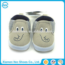 Canvas slip on elephant print big ears cartoon infant shoes