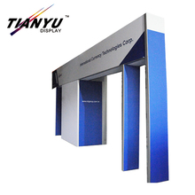 Aluminum fast install modular exhibition display customized trade show stand 3D design booth.