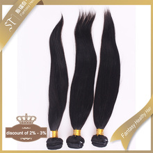 Guangzhou wholesale 6a remy brazil human hair extension natural straight black hair weaving