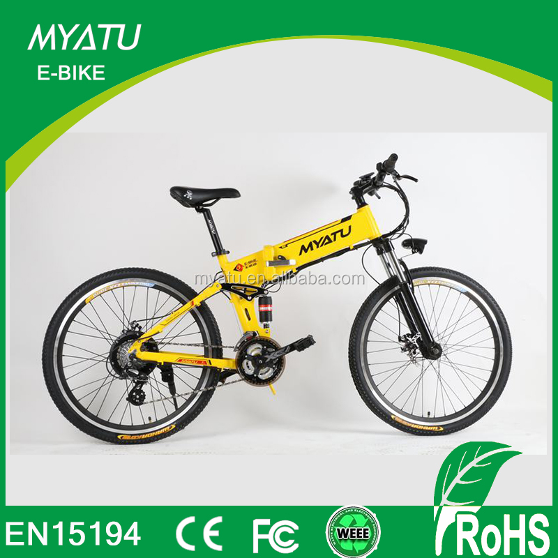 "250W/ 350W/ 500W 26""inch electric motor bike/10ah lion battery electric mountain bike folding"
