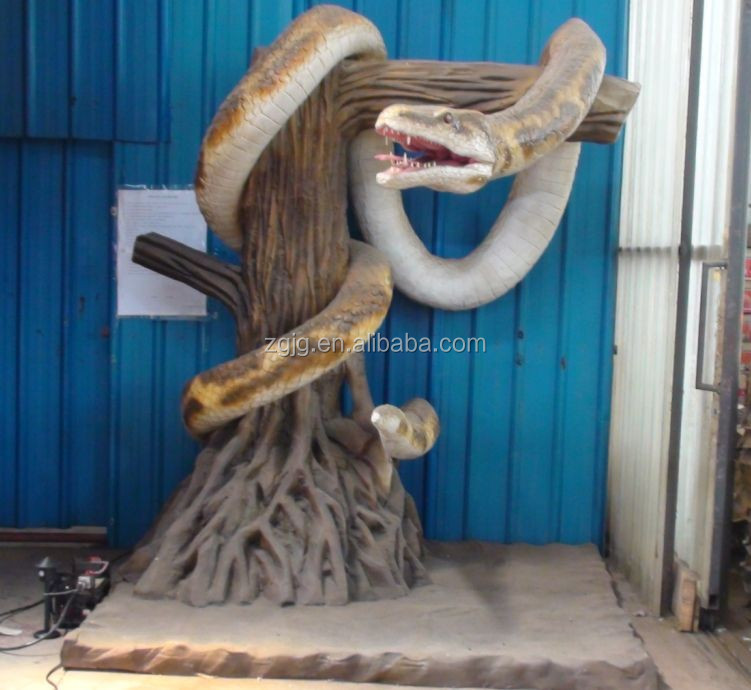 Animatronic animals Silicone life size snakes for sale