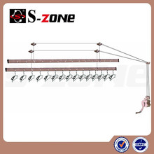 Superior quality wire rope operated clothes air drying rack