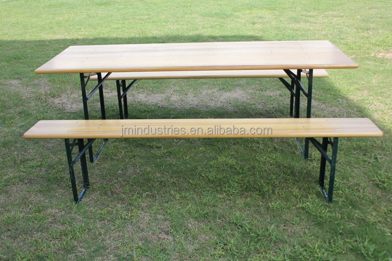 Hot sale 3pcs wooden beer table picnic table for outdoor use