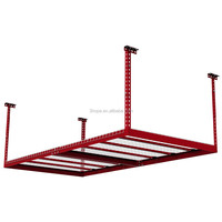 Ce certificate RED cold storage used heavy equipment,garage storage ceiling rack,tubular storage metal shelving