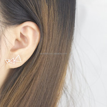 Wholesale Bohemian Open Triangle Line Ear Cuff Earrings Wholesale Lot Gold Silver Plated Stainless Steel Jewelry Bijoux BFF Gift
