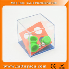 Funny promotional hollow clear glass ornament plastic maze game cube
