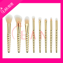hot sell 8pcs synthetic hair electroplated plastic surfaces handle cosmetic kit unicorn brushes makeup brush set