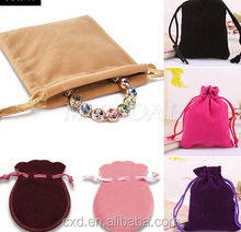 Velvet Jewelry Gift Drawstring Packing Bags Pouches With Custom Logo Printing
