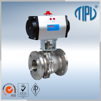 "Gear Box ANSI B16.34 1/2"" stainless steel ball valve for oil and gas"