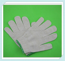 2014 promotion High quality white cotton driver glove