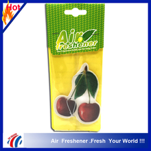 cute cherry shape good fruit smell room car ornaments paper scented deodorant air freshener paper factory price