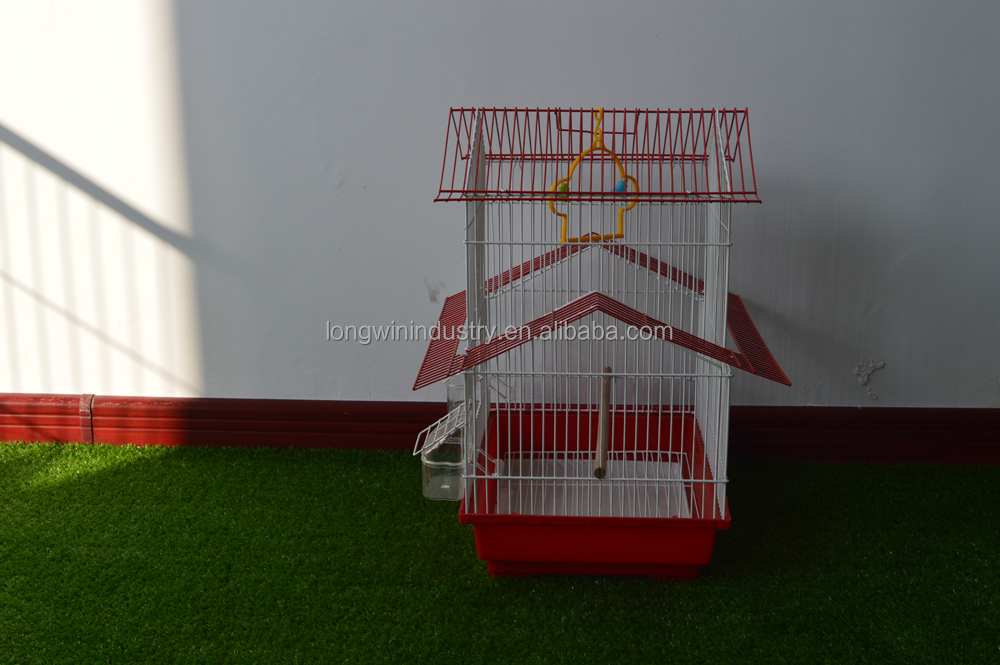 Mini house carriler canary parrot bird cage