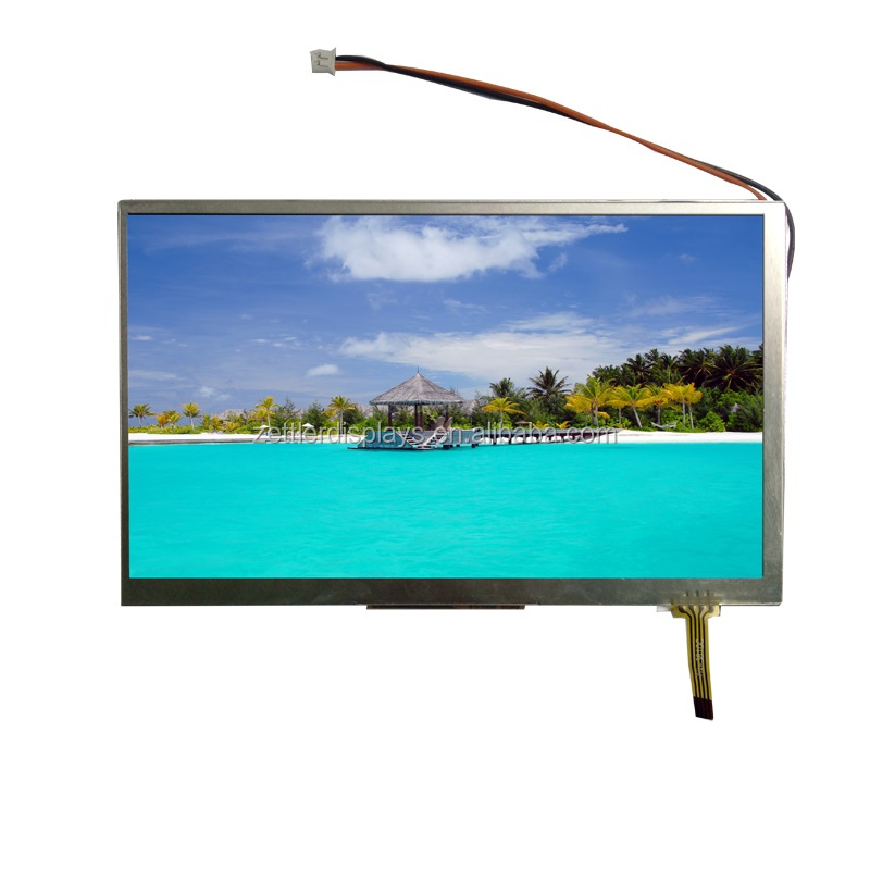 7 inch tft lcd touch screen module LVDS interface, 800 nits high brightness, resistive touch panel