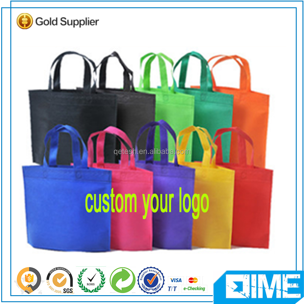 Eco-Friendly OEM Logo Imprinted Promotional Cheap Non Woven Shopping Tote Bag