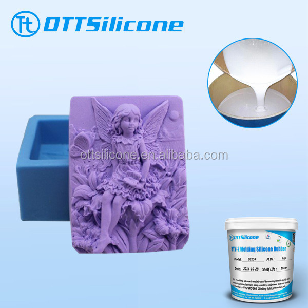 high quality FDA food grade silicone/liquid silicon for soap molds making