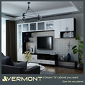 Home Furniture Tv Wall Mount Wood Led TV Wall Unit Design
