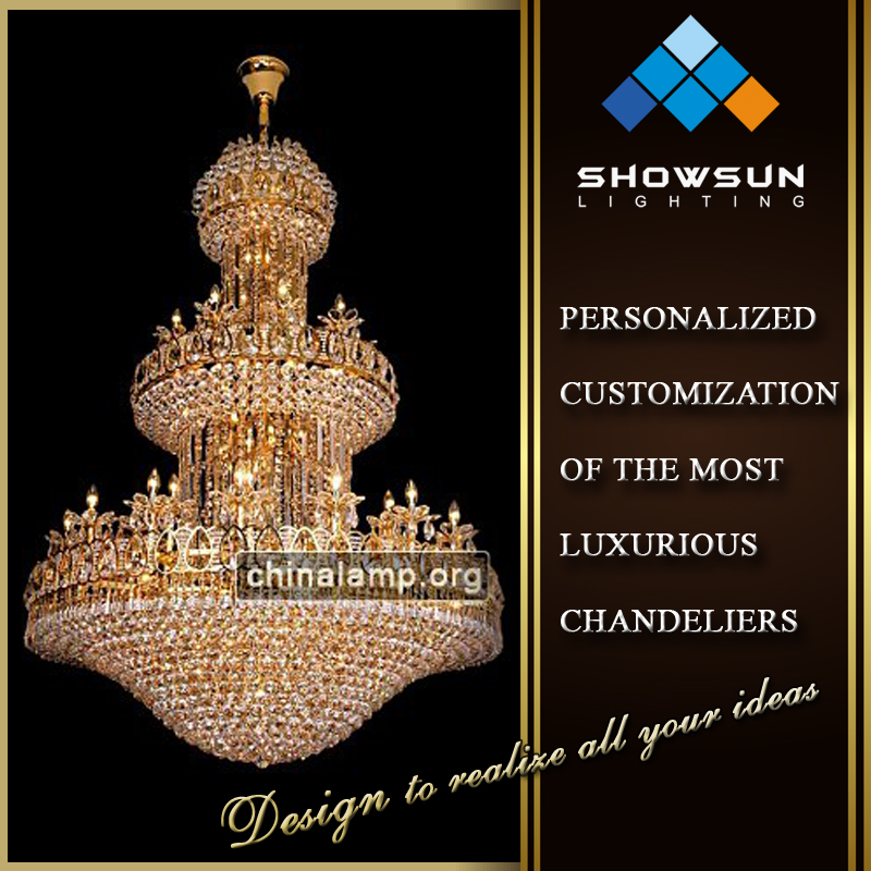 Europeanism banquet hall beaded crystal chandelier & chandelier crystals pendant light