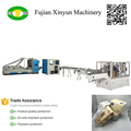 High speed plastic film facial tissue production line