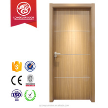 Modern design simple carving single wood panel room door