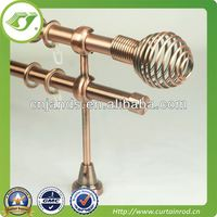 2013 aluminium new style decorative shower double curtain tube/pipe