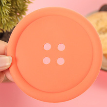 Kitchen Utensil Heat Resistant button shape Silicone Hot Pot Holder/Mat/Pad/Trivet/Coaster