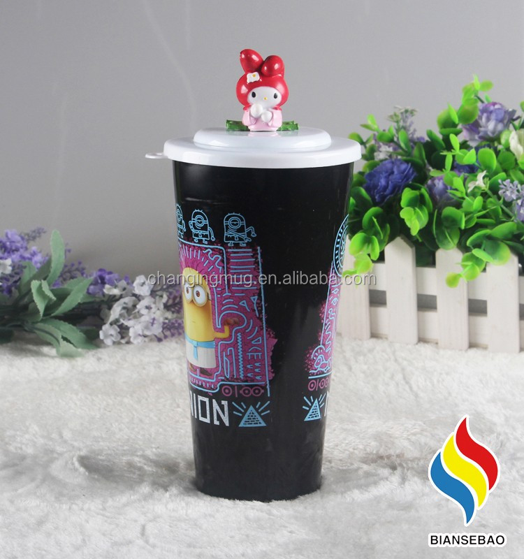 Mugbaby BPA free Lovely doll head fashion portable pp plastic cup